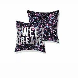 VS Pink galaxy display prop throw pillow